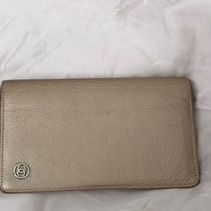 Chanel leather long wallet, gold.